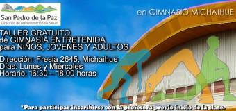 TALLER GRATUITO DE GIMNASIA ENTRETENIDA
