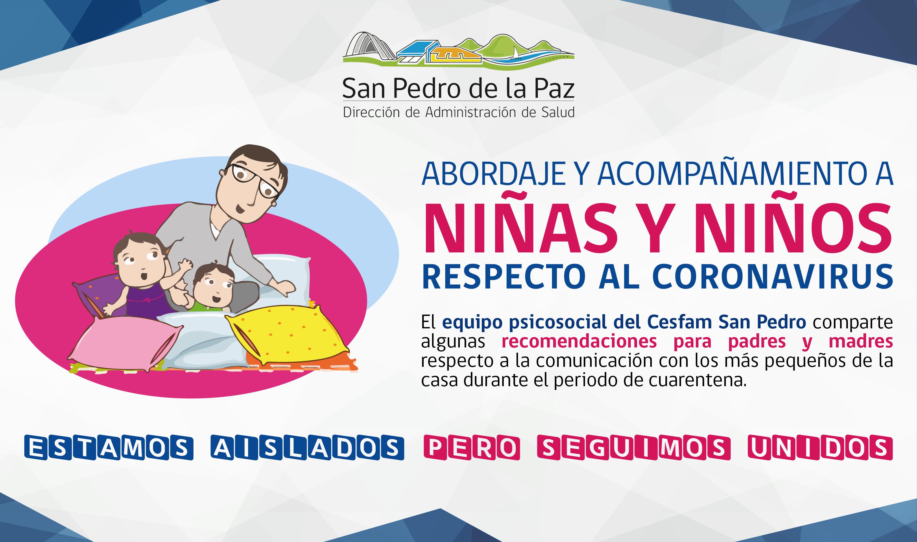 CONSEJOS PARA ACOMPAÑAR A NIÑOS Y NIÑAS DURANTE LA PANDEMIA