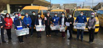 TRANSPORTISTAS ESCOLARES SE SUMAN A ENTREGA DE MEDICAMENTOS EN DOMICILIOS SAMPEDRINOS