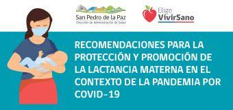 RECOMENDACIONES PARA LA PROTECCIÓN Y PROMOCIÓN DE LA LACTANCIA MATERNA DURANTE LA PANDEMIA POR COVID-19