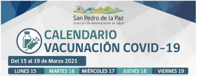 VACUNACIÓN COVID-19: SEMANA DEL 15 AL 19 DE MARZO